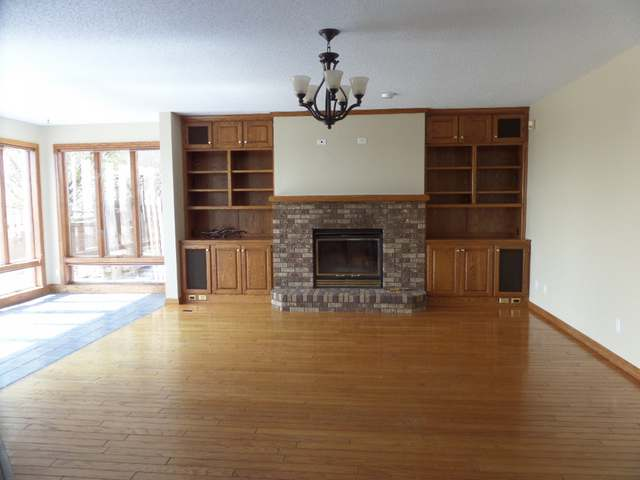 family room with hearth