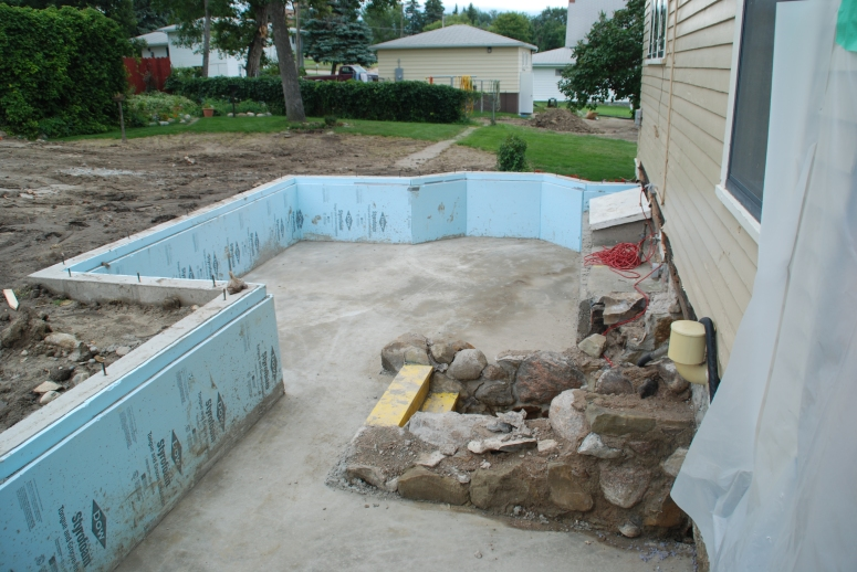 Footings complete.