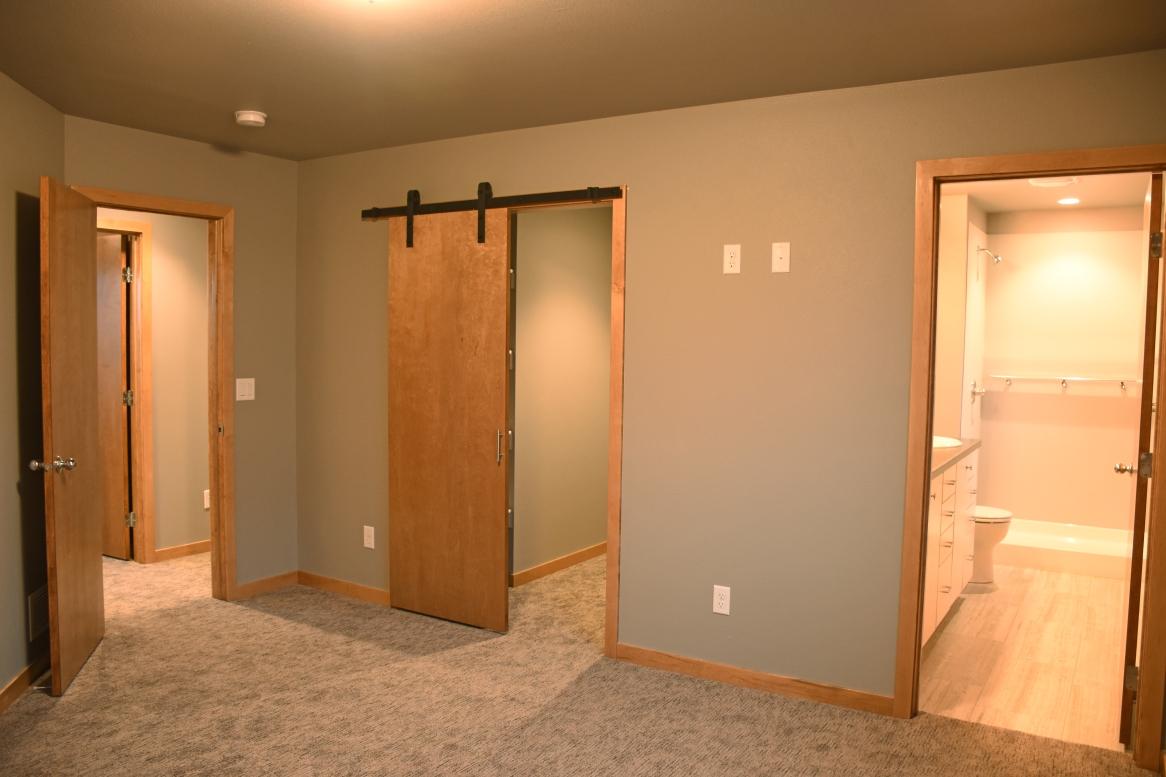 Master bedroom, bath, closet.