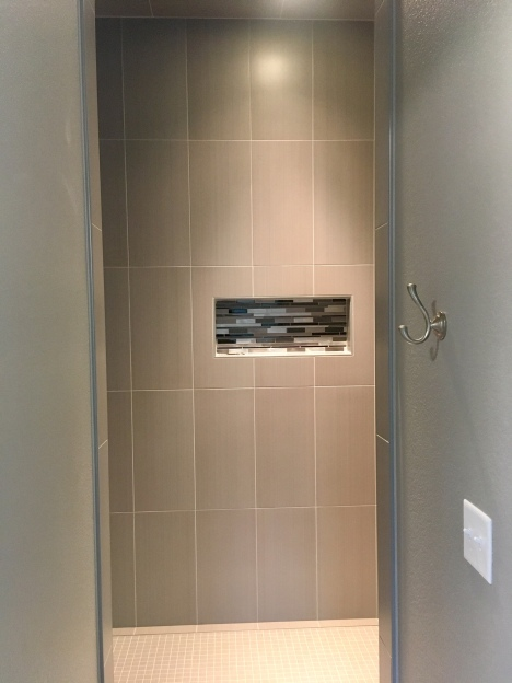 Large custom shower in the master.